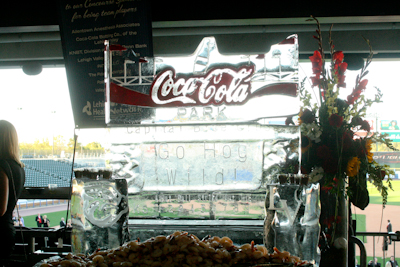 A cool Iron Pigs ice sculpture